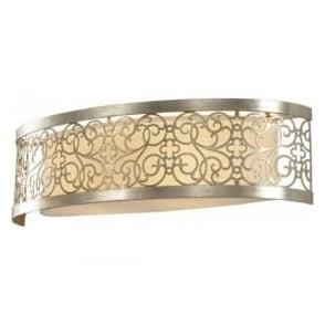 Lighting Feiss FE/ARABESQUE2 Arabesque 2 Light Wall Light Silver Leaf Patina