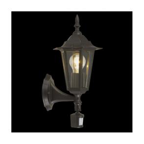 22469 Laterna4 1 Light Outdoor Sensor Wall Light Black IP44