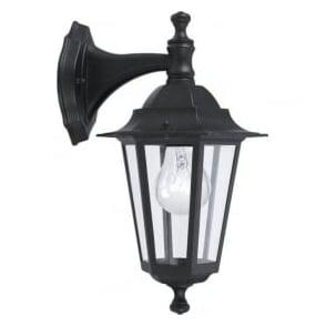 22467 Laterna4 1 Light Outdoor Wall Light Black IP33