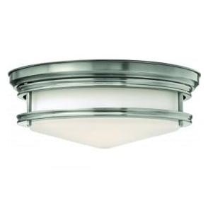 Lighting Hinkley HK/HADLEY/F/AN Hadley 3 Light Flush Ceiling Light Antique Nickel