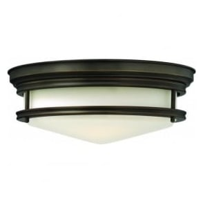 Lighting Hinkley HK/HADLEY/F/OZ Hadley 3 Light Flush Ceiling Light Oil Rubbed Bronze