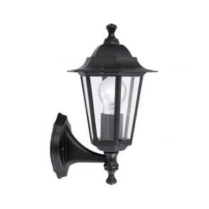 22468 Laterna4 1 Light Outdoor Wall Light Black IP33