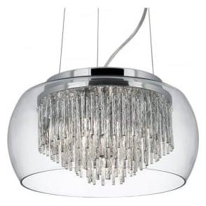 3624-4CC Alera 4 Light Ceiling Pendant Polished Chrome