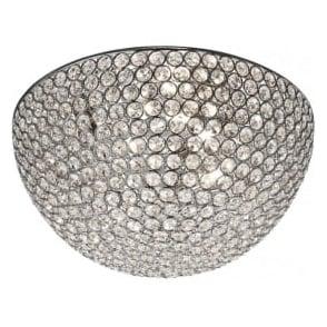 5163-35CC Chantilly Crystal Flush Ceiling Light Polished Chrome