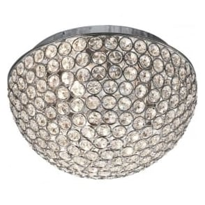 5162-25CC Chantilly Crystal Flush Ceiling Light Polished Chrome