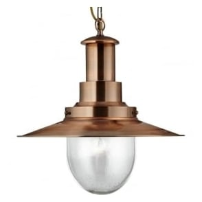 5301CO Fisherman XL 1 Light Ceiling Pendant Copper