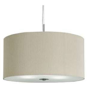 2353-40CR Drum Pleat 3 Light Ceiling Pendant Cream