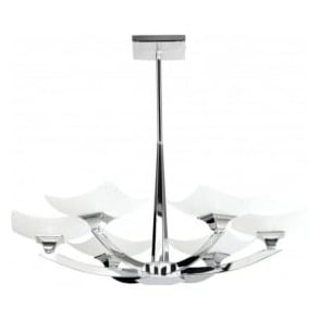 AYRES-6CH Ayres 6 Light Ceiling Light Polished Chrome