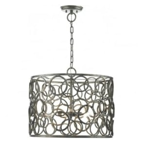 JOC0532 Jocasta 5 Light Ceiling Pendant Antique Silver