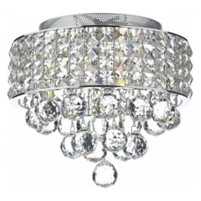 MAT5350 Matrix 3 Light Semi-Flush Crystal Ceiling Light Polished Chrome