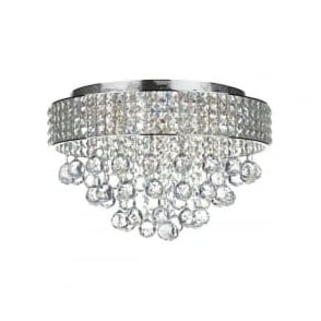MAT5450 Matrix 5 Light Semi-Flush Crystal Ceiling Light Polished Chrome