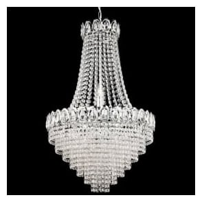 1711-11CC Louis Philipe Crystal 11 Light Chandelier Polished Chrome