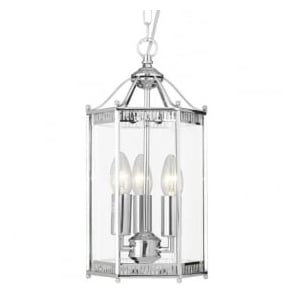 2273CC Lanterns 3 Light Ceiling Pendant Polished Chrome