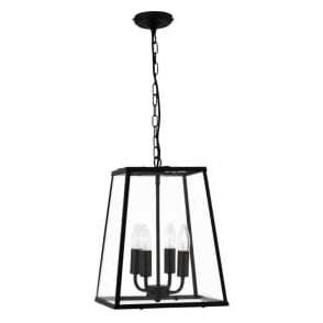 5614BK 4 Light Lantern Black
