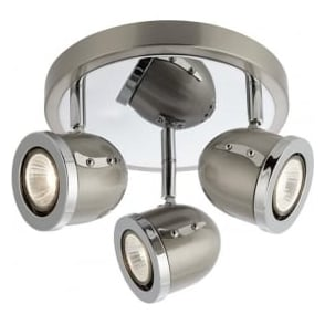 4923SS Palmer 3 Light Spotlight Satin Silver