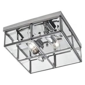 6769-26CC 2 Light Flush Ceiling Light Polished Chrome