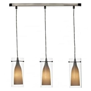 BOD0346 Boda 3 Light Ceiling Pendant Satin Chrome