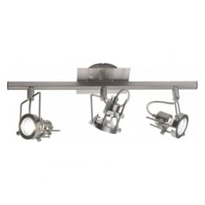 BAU7346 Bauhaus 3 Light Ceiling Spotlight Satin Chrome