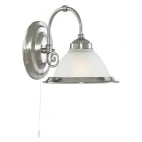 1041-1 American Diner 1 Light Wall Light Satin Silver