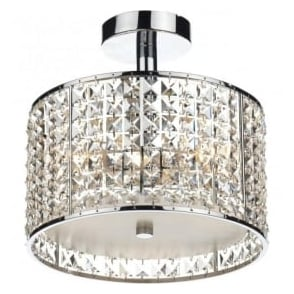 RHO5350 Rhodes 3 Light Bathroom Ceiling Light Polished Chrome