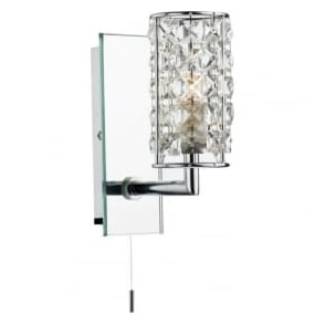 RHO0750 Rhodes 1 Light Bathroom Wall Light Polished Chrome