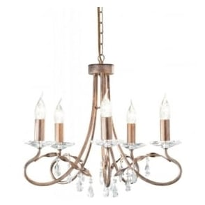 CRT5 Christina 5 Light Ceiling Light Silver/Gold