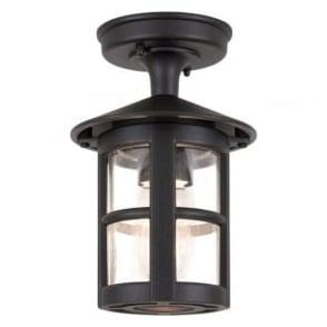 BL21A Hereford Ridge Tube Outdoor 1 Light Porch Lantern Black IP43
