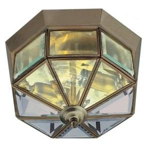 8235AB Flush 2 Light Flush Ceiling Light Antique Brass