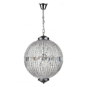 EQU1250 Equator 12 Light Crystal Pendant Polished Chrome