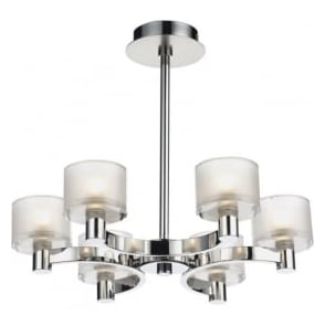 ETO0650 Eton 6 Light Semi-Flush Ceiling Light Chrome