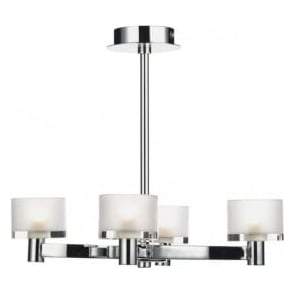 ETO0450 Eton 4 Light Semi-Flush Ceiling Light Chrome