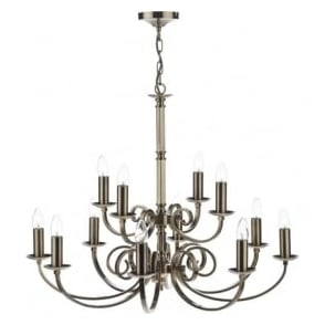 MUR1275 Murray 12 Light Ceiling Light Antique Brass