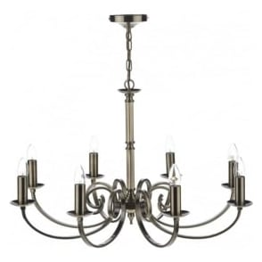 MUR0875 Murray 8 Light Ceiling Light Antique Brass