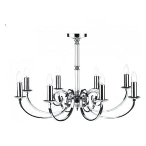 MUR0850 Murray 8 Light Ceiling Light Polished Chrome