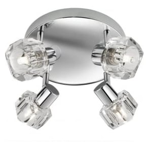 3764CC Triton 4 Light Ceiling Spotlight Polished Chrome