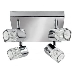 7884CC-LED Blocs 4 Light Ceiling Spotlight Polished Chrome