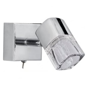 9881CC Blocs 1 Light Wall Spotlight Polished Chrome