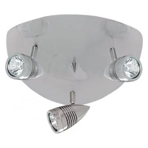 693SS Falcon 3 Light Ceiling Spotlight Satin Silver