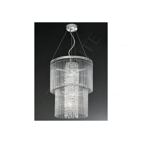 FL2310/4 Charisma 4 Light Crystal Ceiling Pendant Polished Chrome