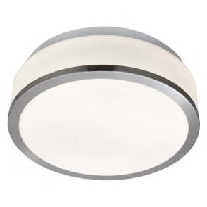 7039-28SS Flush 2 Light Flush Ceiling Light Satin Silver IP44