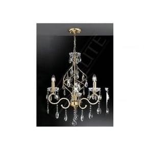FL2159/3 Chiffon 3 Light Crystal Ceiling Light Gold