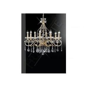 FL2159/8 Chiffon 8 Light Crystal Ceiling Light Gold