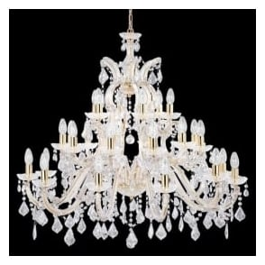 1214-30 Marie Therese 30 Light Chandelier Polished Brass