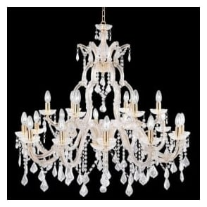 1214-18 Marie Therese 18 Light Chandelier Polished Brass