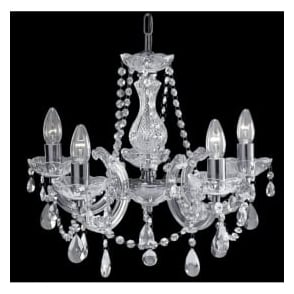 399-5 Marie Therese 5 Light Chandelier Polished Chrome
