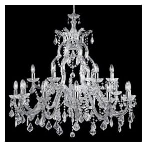 3314-18 Marie Therese 18 light traditional crystal chandelier chrome finish