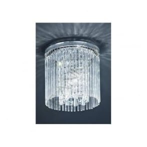 CF5726 3 Light Bathroom Crystal Ceiling Polished Chrome