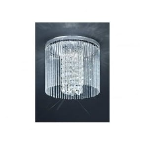CF5727 3 Light Bathroom Crystal Ceiling Polished Chrome