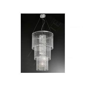 FL2310/6 Charisma 6 Light Crystal Ceiling Pendant Polished Chrome