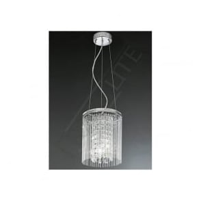 FL2310/3 Charisma 3 Light Crystal Ceiling Pendant Polished Chrome